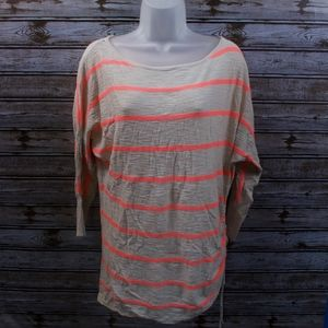 Express Women's Pullover Tunic Striped Sweater